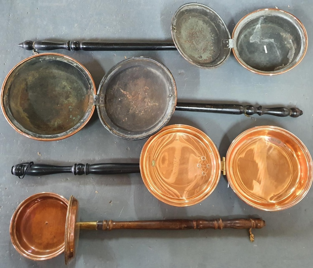 Four Victorian copper bedwarmers (4) - Image 2 of 2