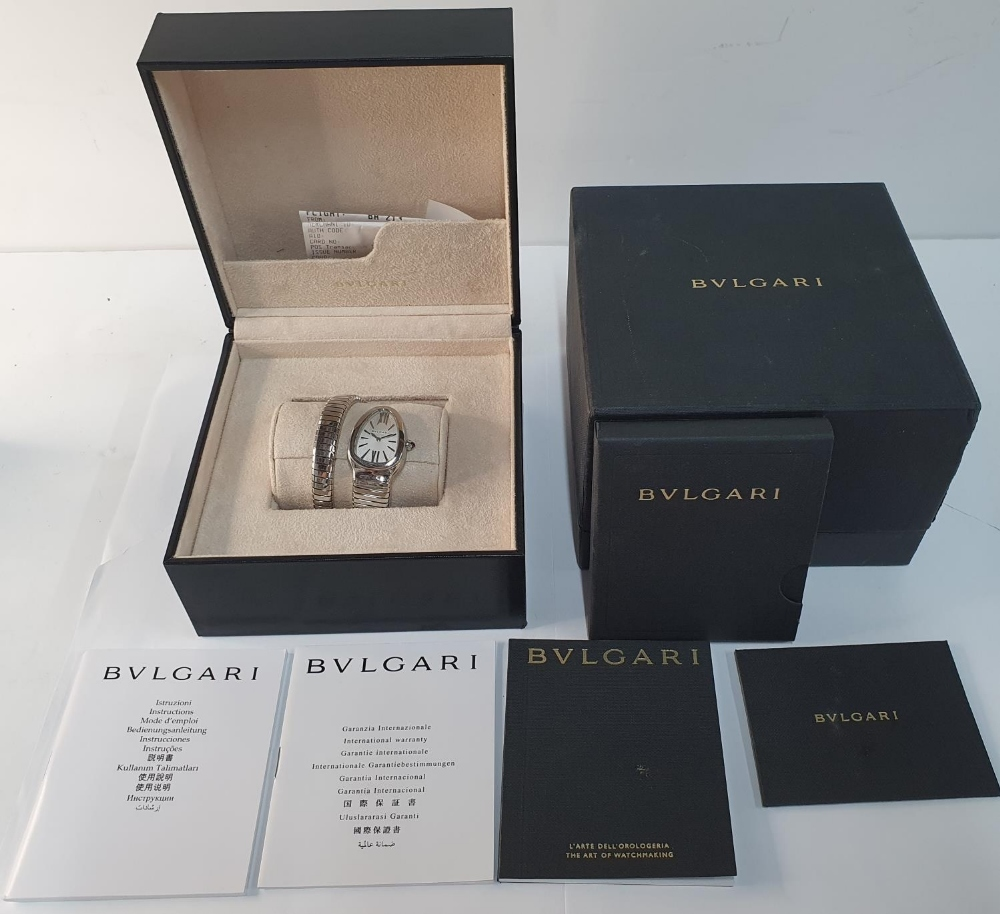 Ladies BULGARI SERPENTI TUBOGAS WATCH, purchased in 2011, complete with box & papers & original - Image 6 of 6
