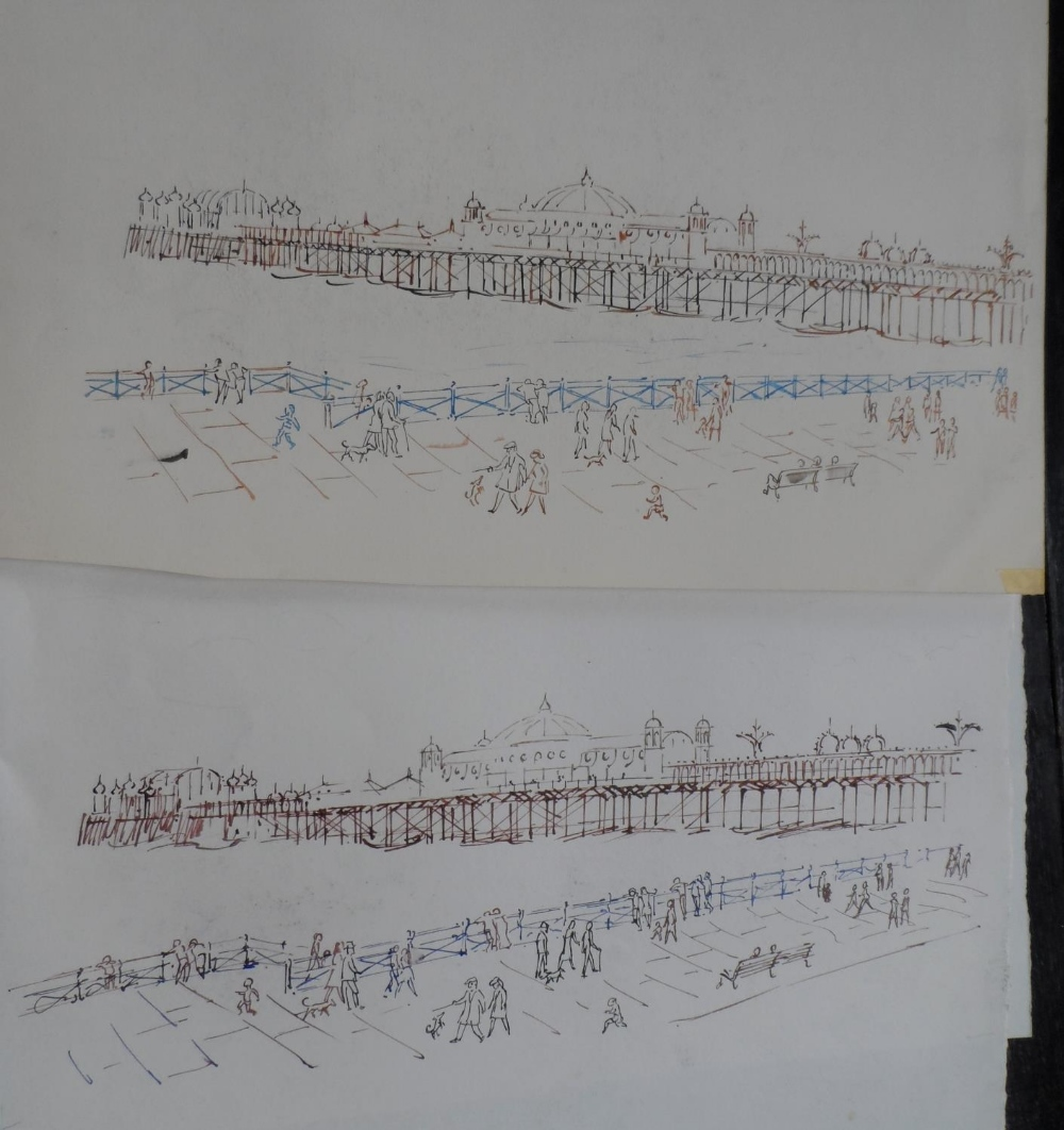 Harry TOOTHILL (Brighton 1917-2001), huge quantity of unframed pencil, ink & watercolours (Qty) - Image 7 of 7