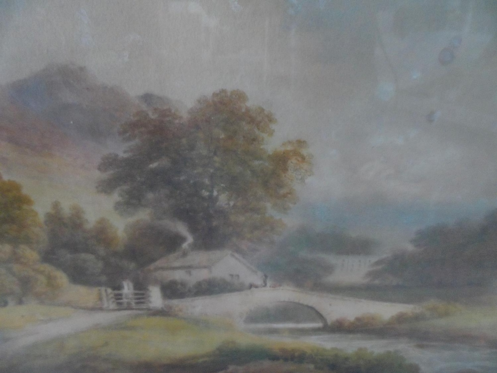 """Francis NICHOLSON (1753-1844) 1803 watercolour """"View of Rydal Hall from across the water"""", signed - Image 3 of 7"""