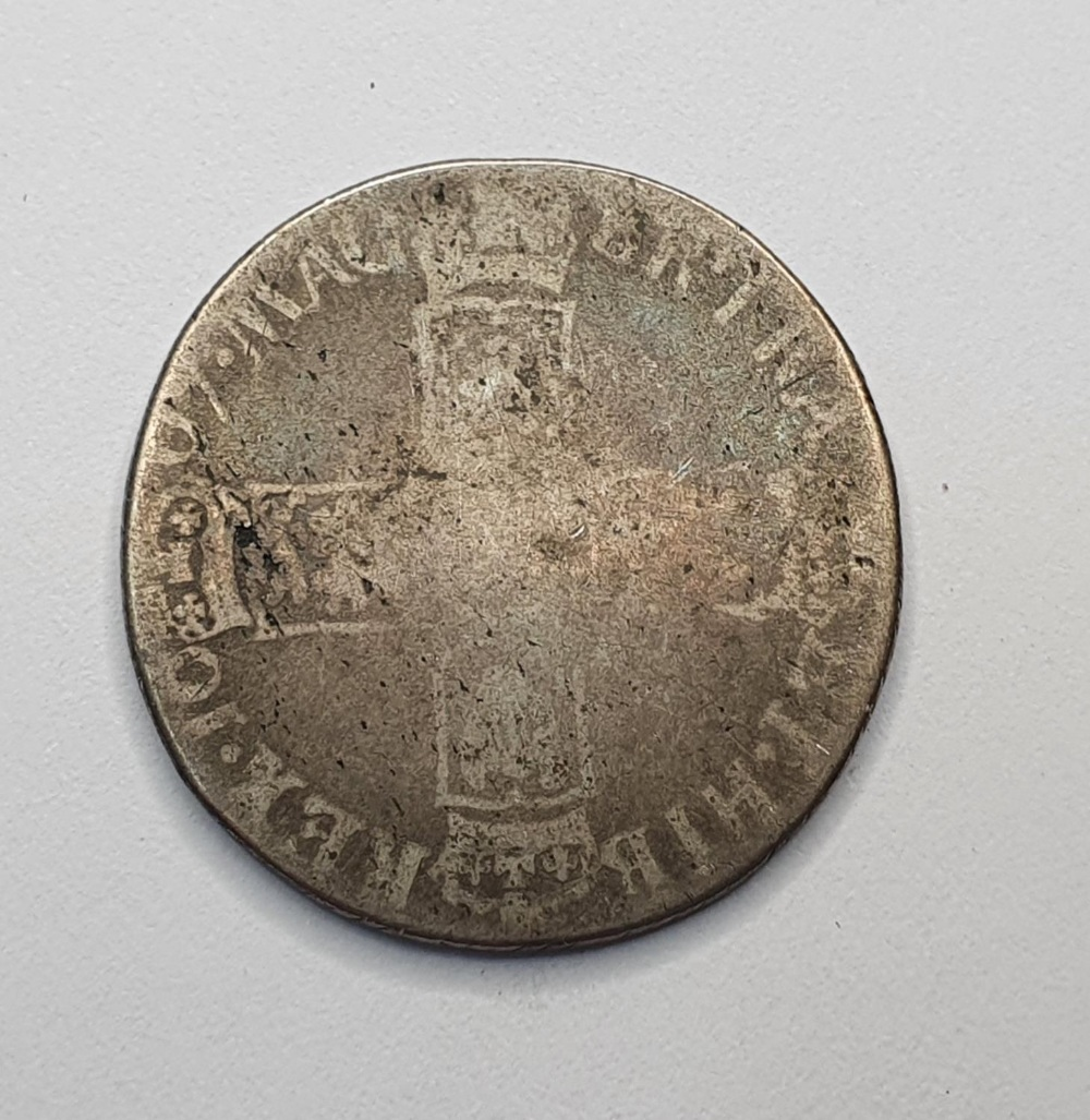 William III, 1697 silver shilling - Image 2 of 2
