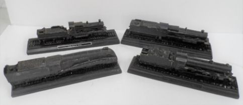 """Four models of steam trains made from British coal, to include the """"Manchester United"""", the """"City of"""