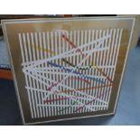 "Yaacov AGAM (Israel b1928) serigraph ""Lined abstract"" 75 x 75 cm"