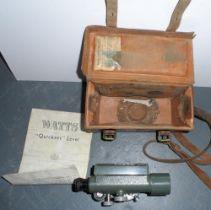 "Watts ""Quickset"" land surveying instrument with case"