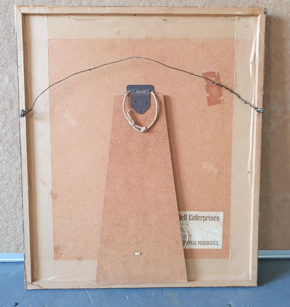 Retro 1970s ornate mirror with faux bamboo frame, 43 x 36 cm - Image 3 of 3