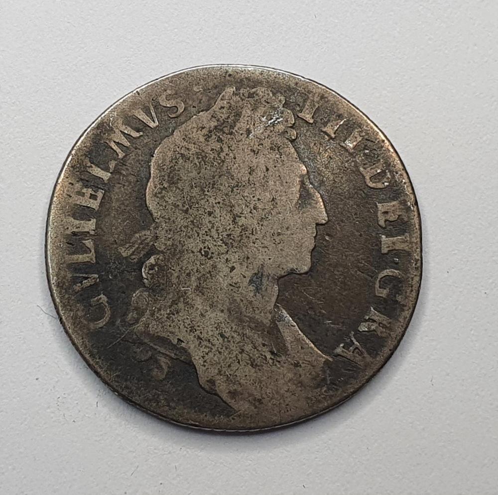 William III, 1697 silver shilling