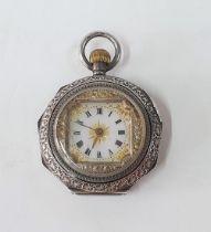 Stunning antique Swiss 935 silver pocket watch, in working order.