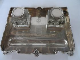 Stunning silver desk set, approx 700 grams of silver, London 1927 made by Goldsmiths &