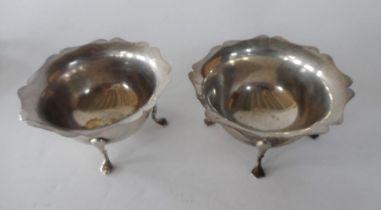 Pair of silver salts both stamped SILVER (2), 150 grams