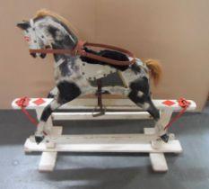 Edwardian rocking horse, 96 x 107cm
