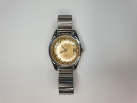 Early/Mid 20thC gents Certina DS automatic wristwatch with metal stretch band