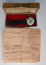 "Hamilton 1963 ""Estoril"" gents wristwatch in original case and original purchase receipt"