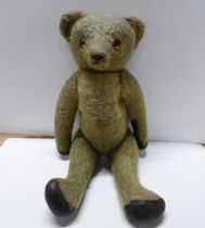 Large Edwardian, unmarked Teddy bear, 55cm tall