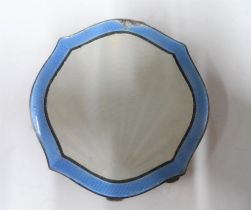 Silver and enamel compact, Birmingham 1936, 74 grams gross