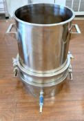 Used-Lot of (5) SS Winterization Filtration Systems, with Ball Valve and Ring to hold Filter Paper