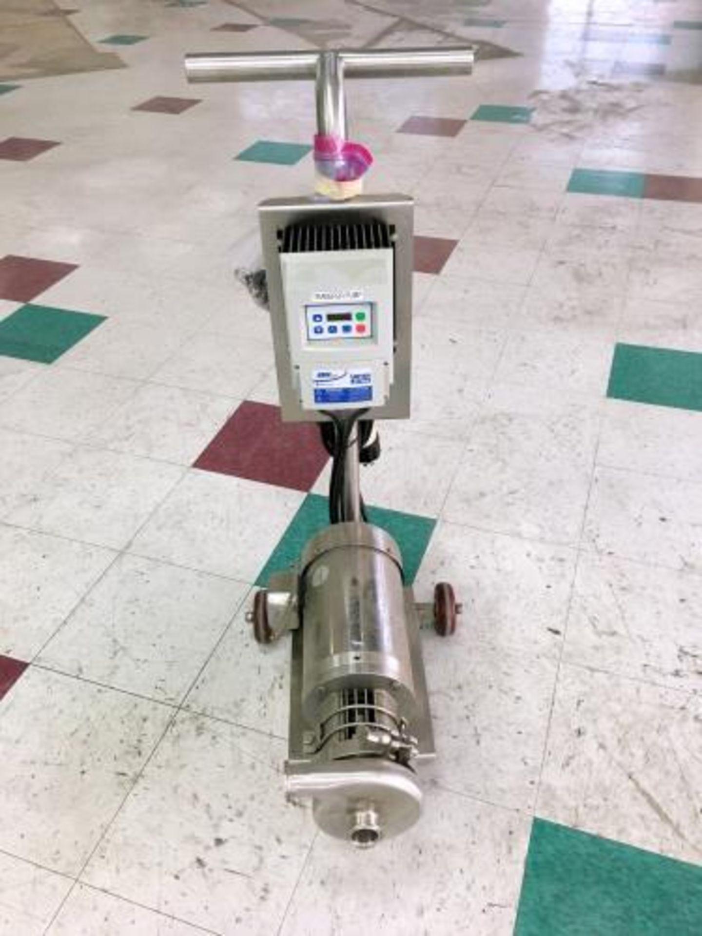 Used-Portable Centrifugal Liquid Transfer Pump. Lenze AC Tech Controller and SS 2 HP Gator Motor.