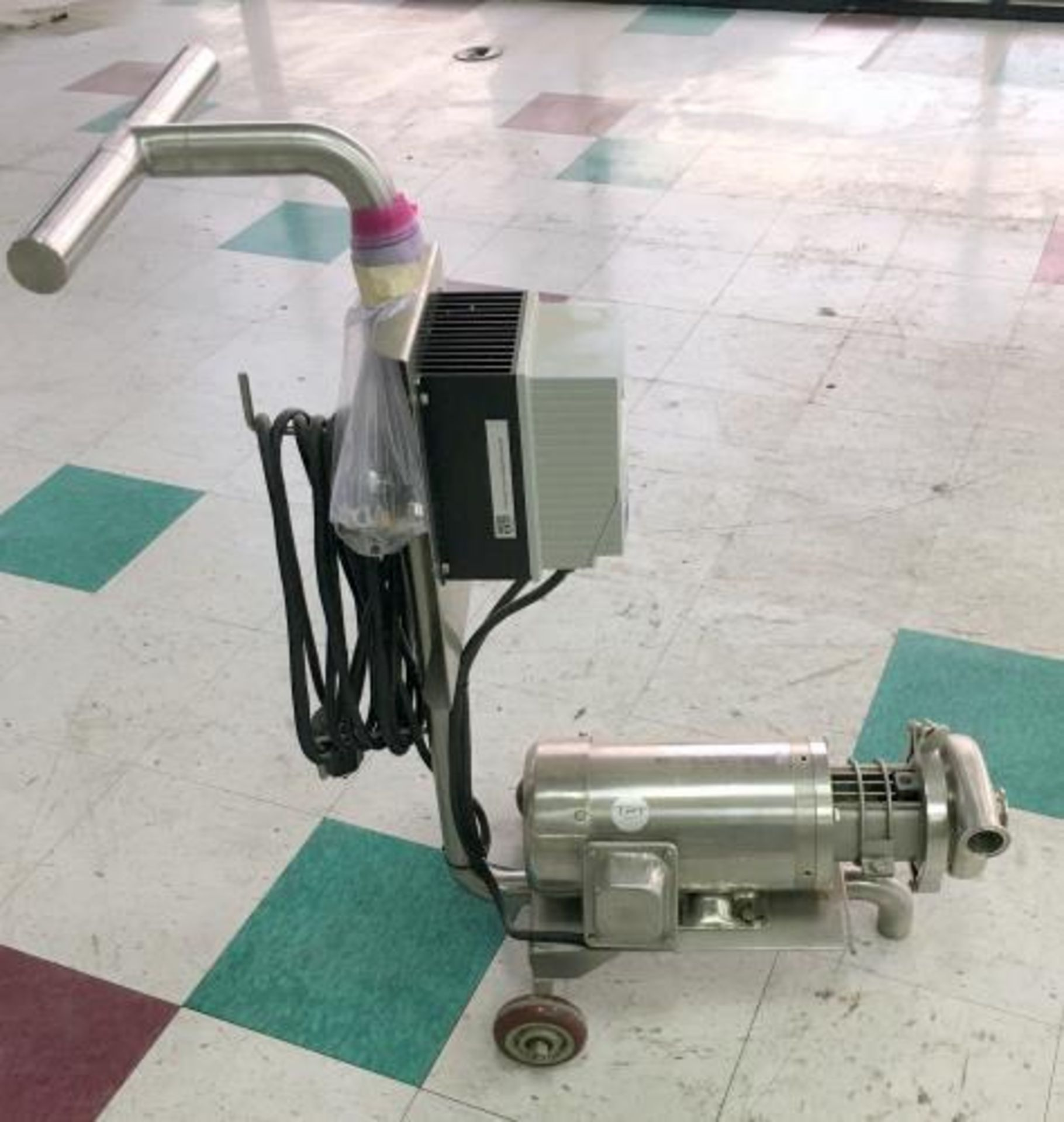 Used-Portable Centrifugal Liquid Transfer Pump. Lenze AC Tech Controller and SS 2 HP Gator Motor. - Image 2 of 7
