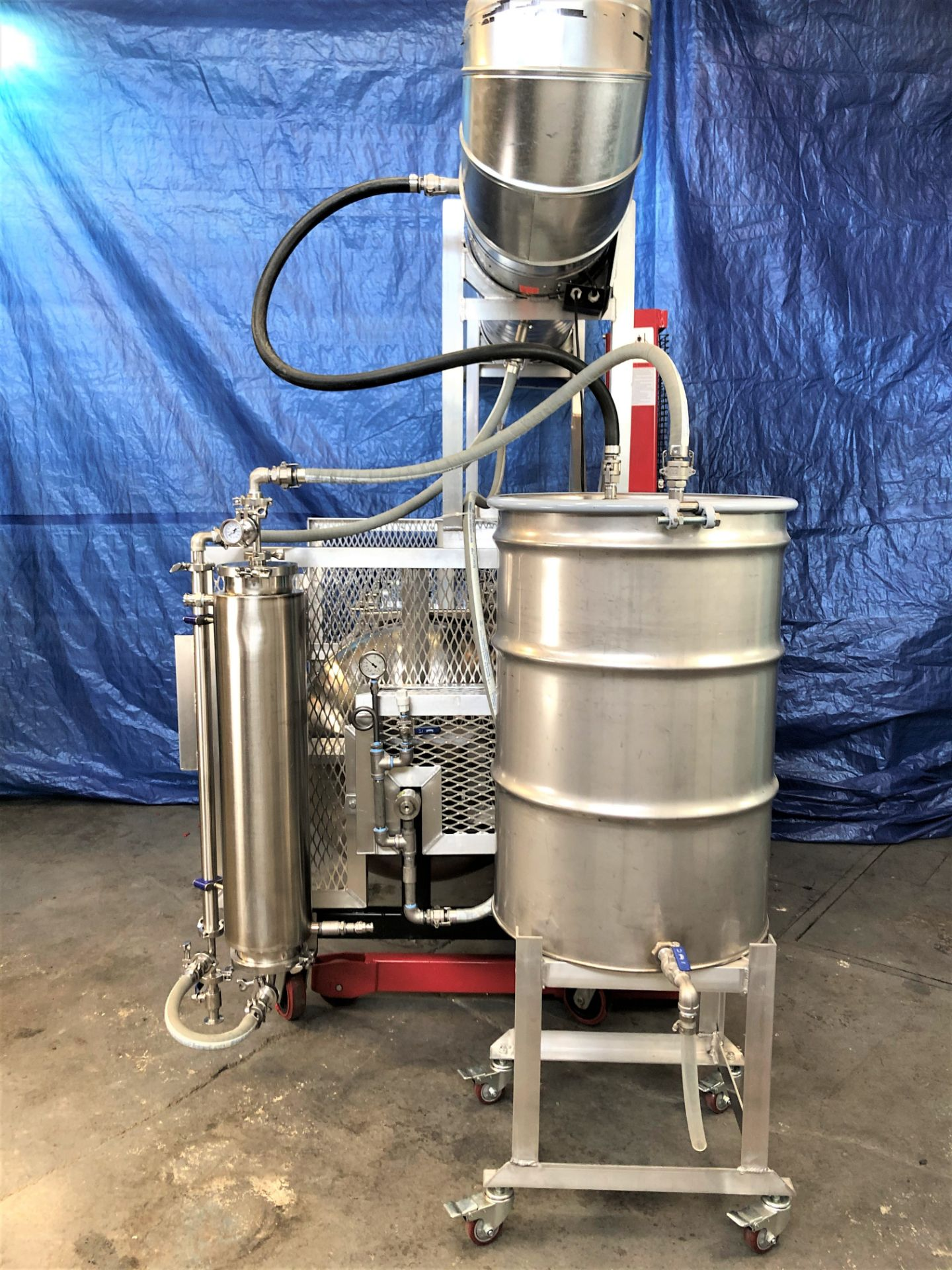Used- Tumble Dryer w/ Molecular Sieve Column & 55 Gallon Collection Drum. Volume: 18 CuFt. - Image 4 of 11