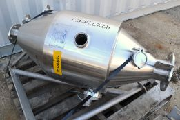 Used- Highland Equipment Limited Flash Cooker Chamber. 25.4 Gal 316L SS 18 Dia x 18 straight side.
