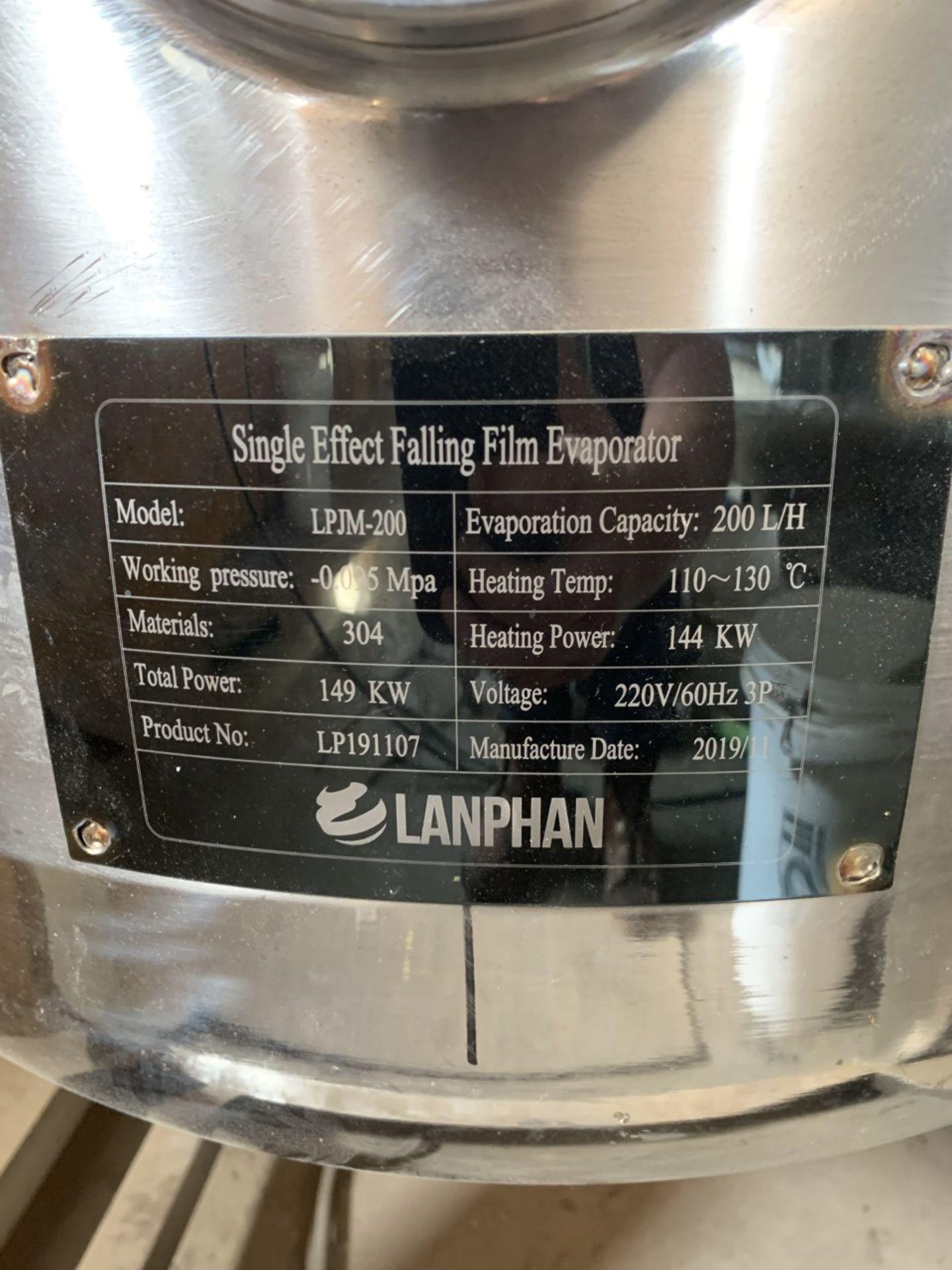 Used Henan Lanphan Industry Single-Effect Falling Film Evaporator. Model FFE-200. Capacity: 200 L/hr - Image 3 of 3