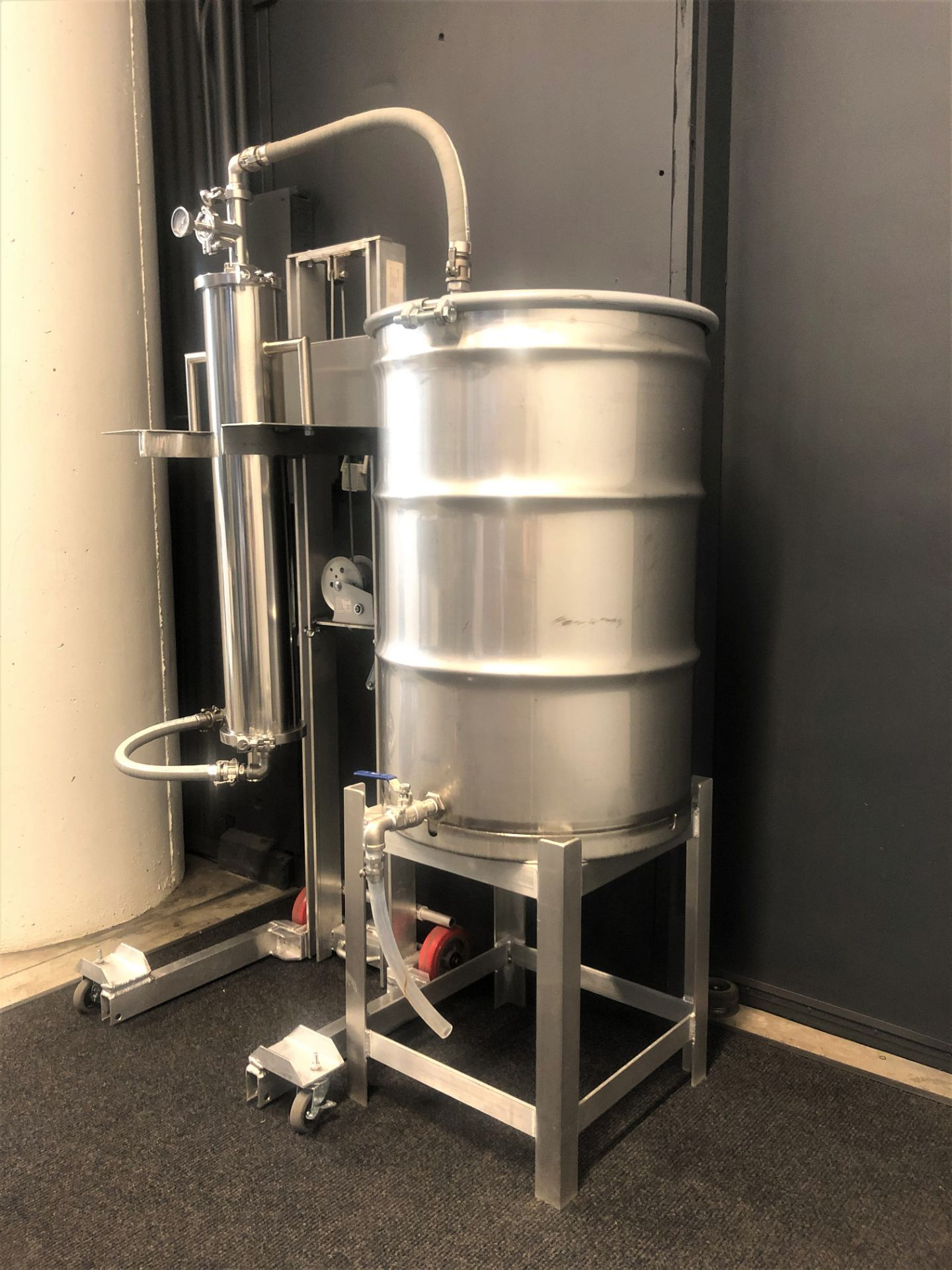 Used/Refurbished-CRCfilters Ethanol Dehydration System EDH-25. 25lb capacity 55 gal collection drum. - Image 3 of 7