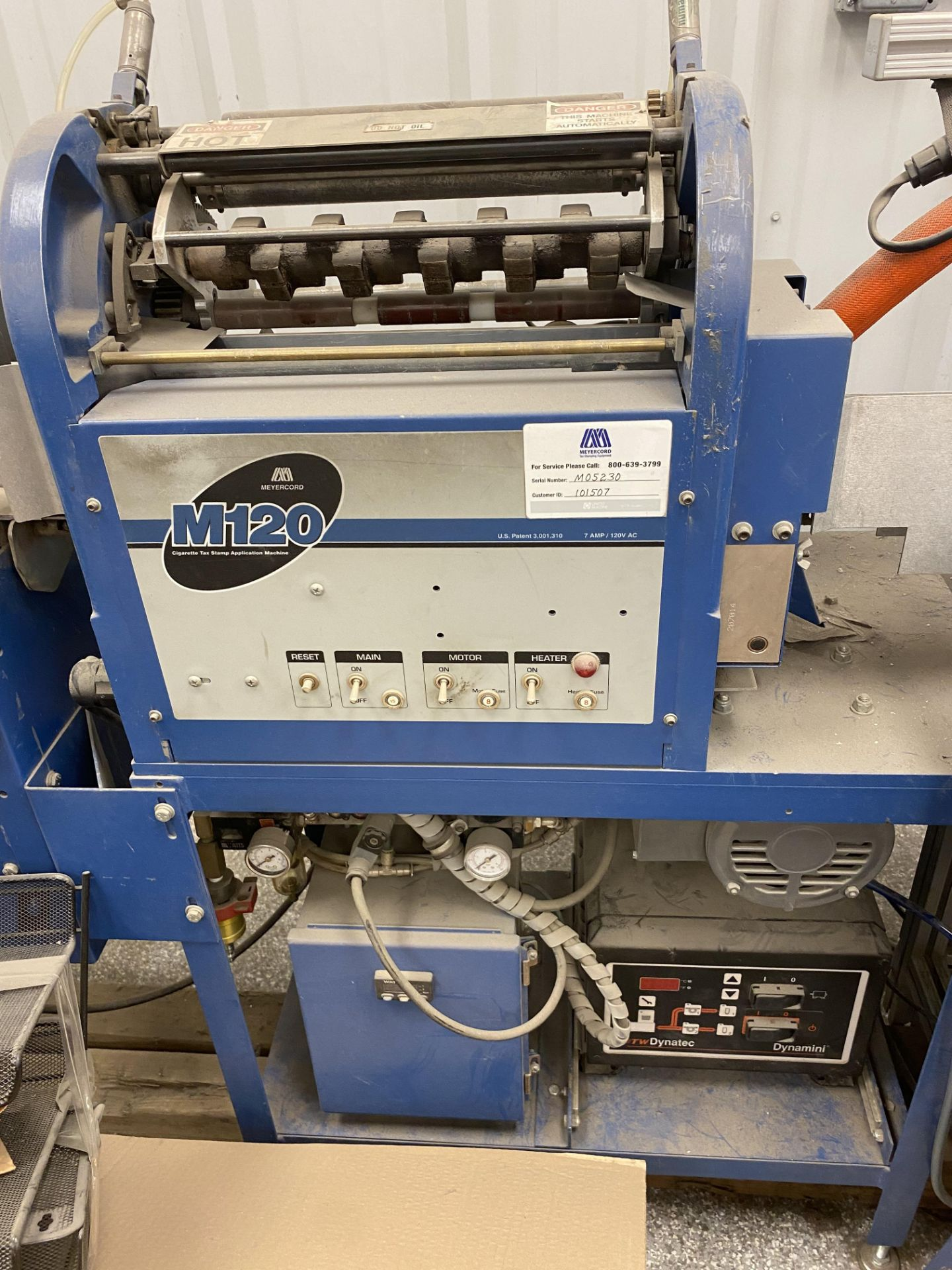 RESERVE LOWERED! Used Meyercord Blue Joint/ Preroll Stamping Machine. Model M120. - Image 2 of 4