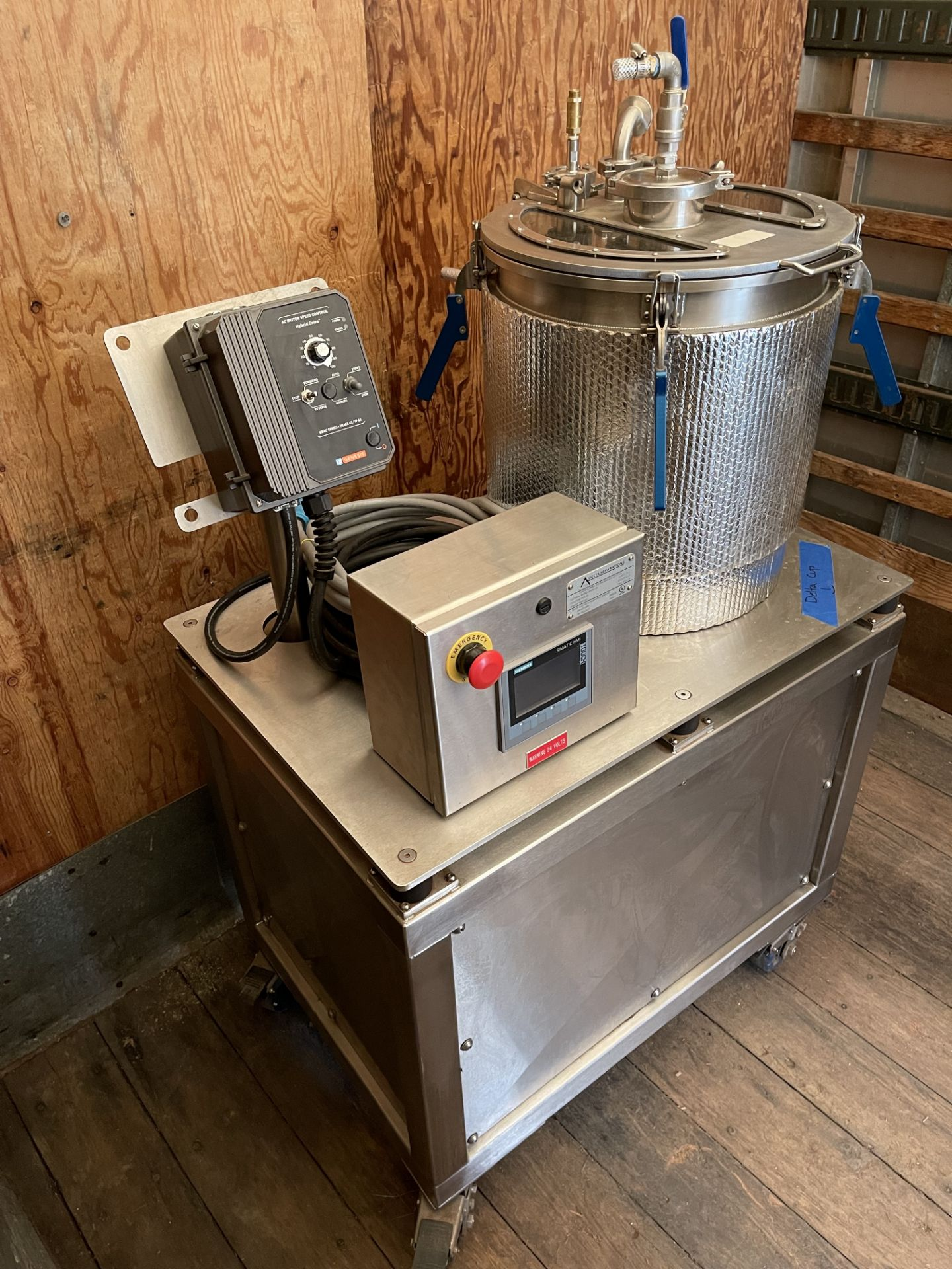 Used- Delta Separations CUP-15 Ethanol Extraction System. Capacity: 8-14 lbs/batch w/ (3) Kegs - Image 14 of 22