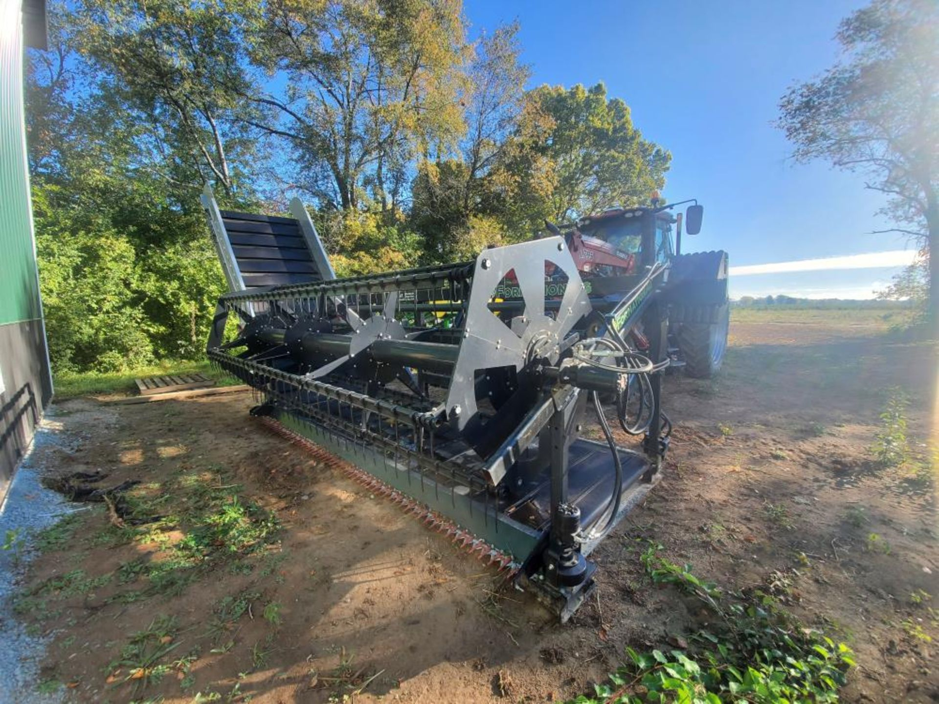 """Used-Formation AG CleanCut Harvester. Model Clean Cut 1550. 15' cutting width, 50"""" belt. - Image 4 of 4"""