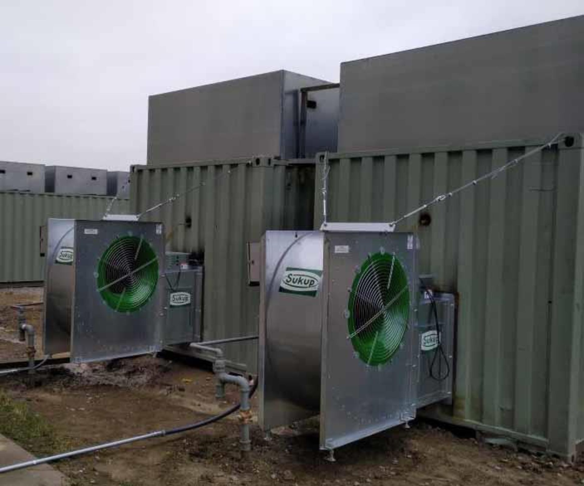 Used- Custom Made Hemp Dryer. Burners deliver 2 million BTU/hr