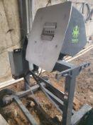 "Used- Munch Machines ""Mother Bucker"" Bucking Machine w/ Wheels. 150-250 lbs/hr wet. 2560 lbs/hr dry"