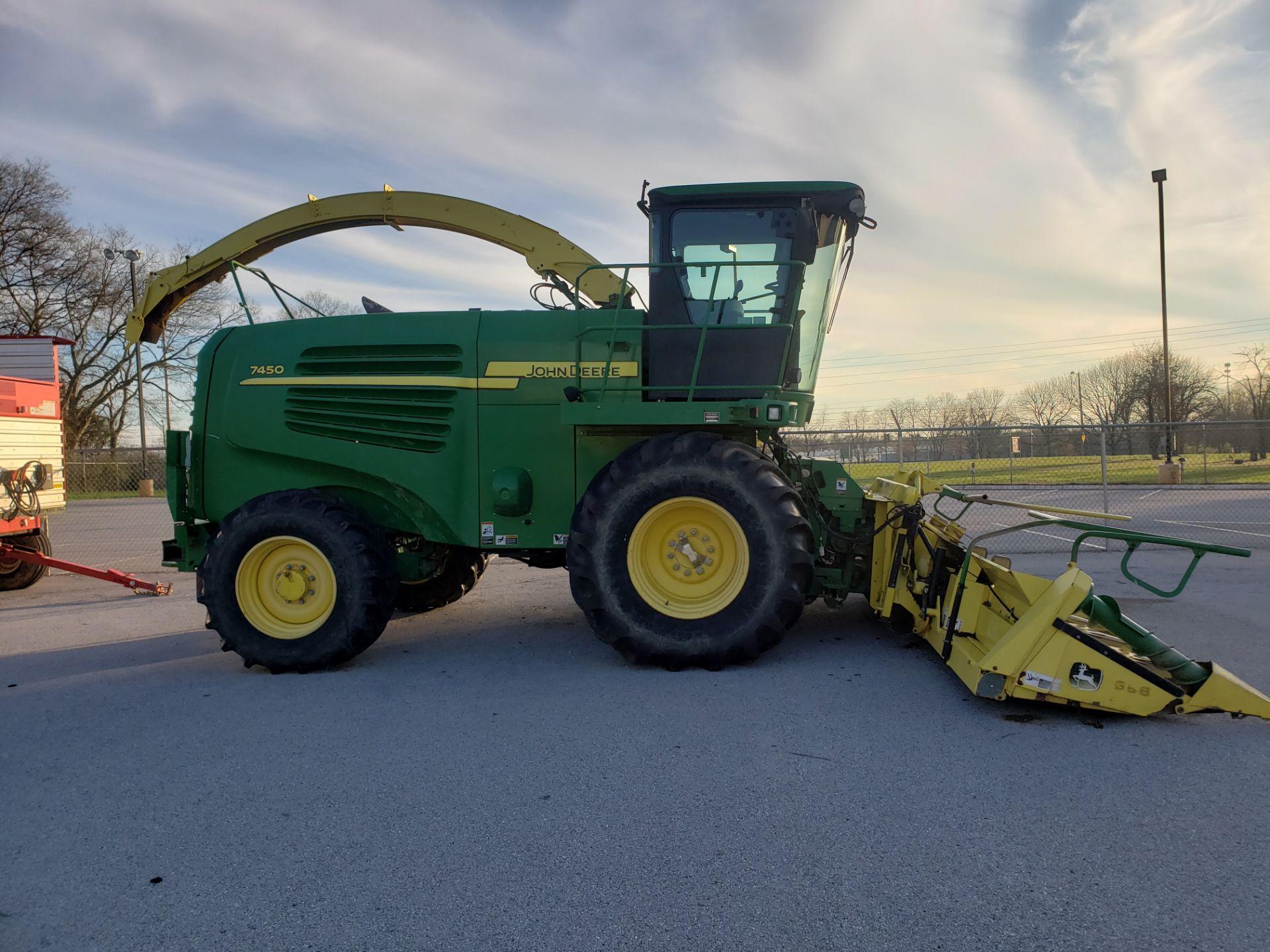 Used-John Deere 7450 Tractor. Model 7450. 1881 hrs. 688 Chopper Head - Image 2 of 10