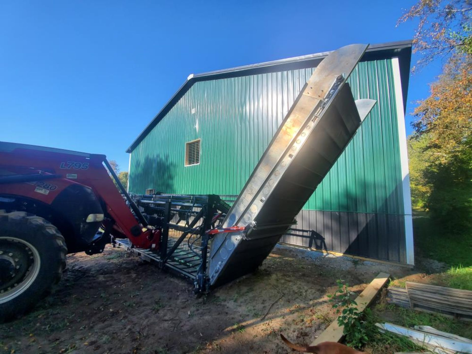 """Used-Formation AG CleanCut Harvester. Model Clean Cut 1550. 15' cutting width, 50"""" belt. - Image 3 of 4"""