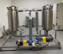 LOCATED IN ROCHESTER, MN-Used- Pinnacle Stainless Alcohol Extraction Skid (SKID ONLY). 200 L