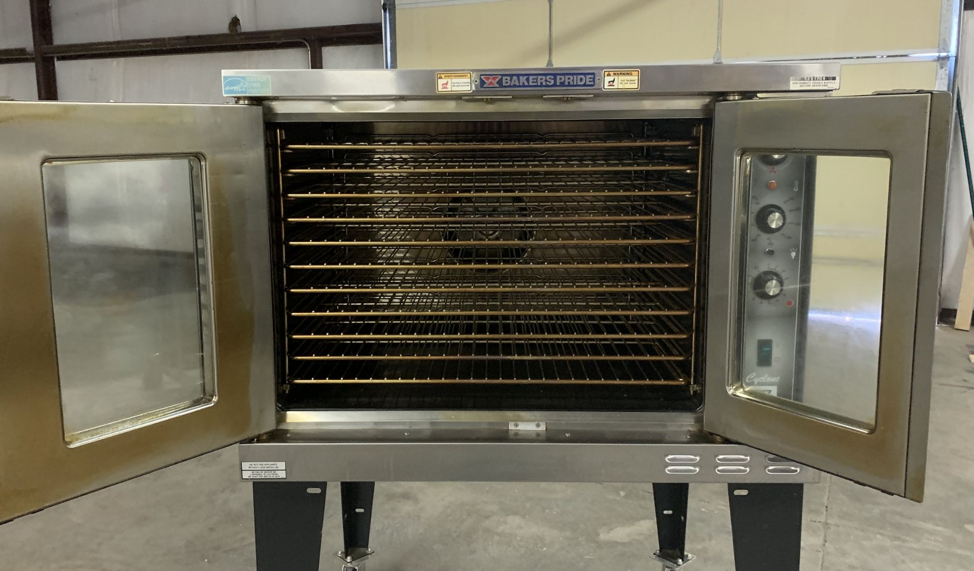 Used Bakers Pride Cyclone Series Single Deck Full Size Electric Decarb Oven. Model BCO-E1w/ 39 trays - Image 2 of 8