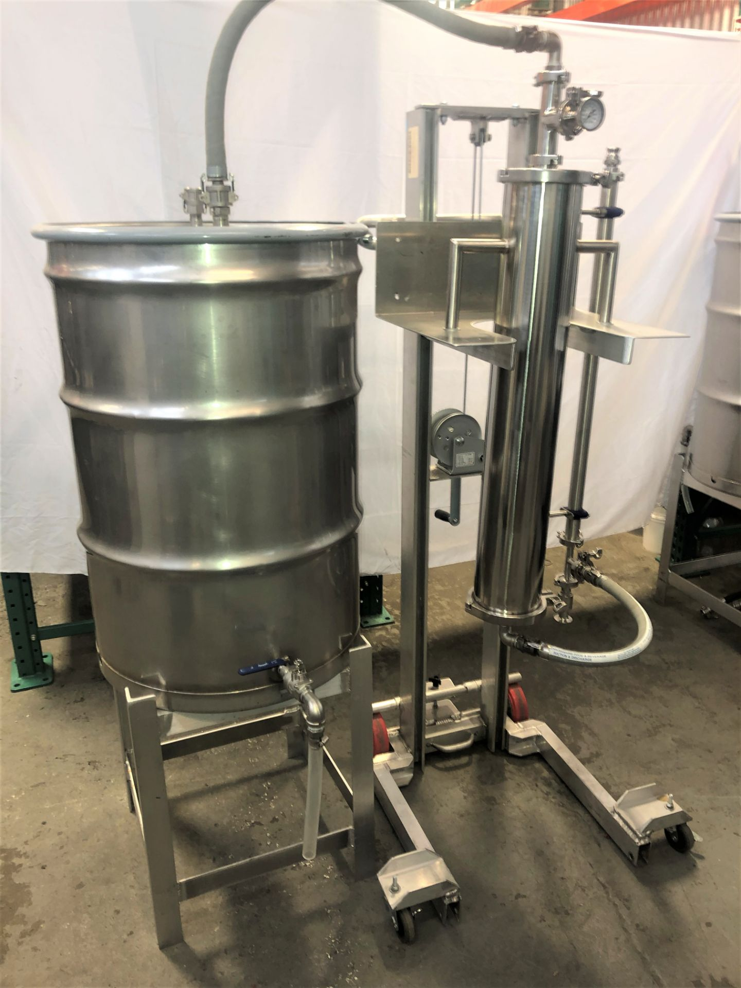 Used/Refurbished-CRCfilters Ethanol Dehydration System EDH-25. 25lb capacity 55 gal collection drum. - Image 2 of 6