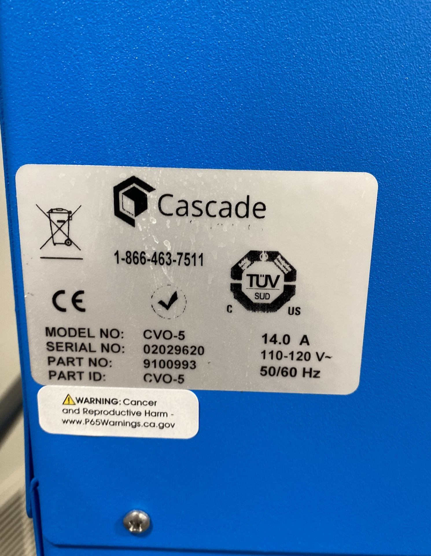 Used Cascade Sciences Standard Package Vacuum Oven. Model CVO-5 w/ Welch Vacuum Pump (2052C-02) - Image 4 of 4