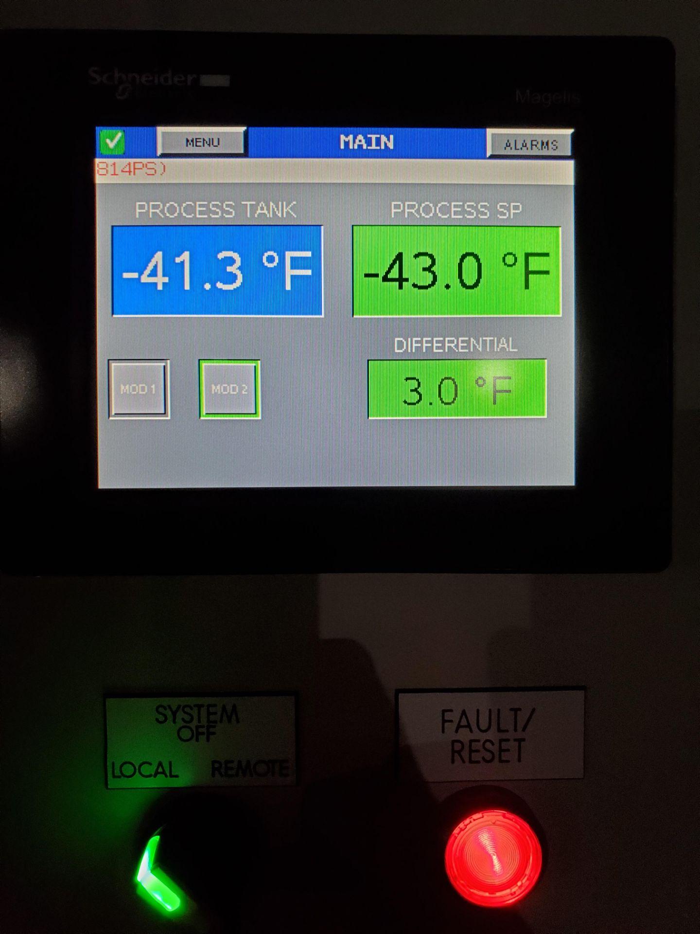 Unused-Fluid Chillers Inc -40 C Water-Cooled Fluid Chiller. Model WAT50,000-DC-ULT-RS. Cap: 42.4 kW - Image 7 of 7
