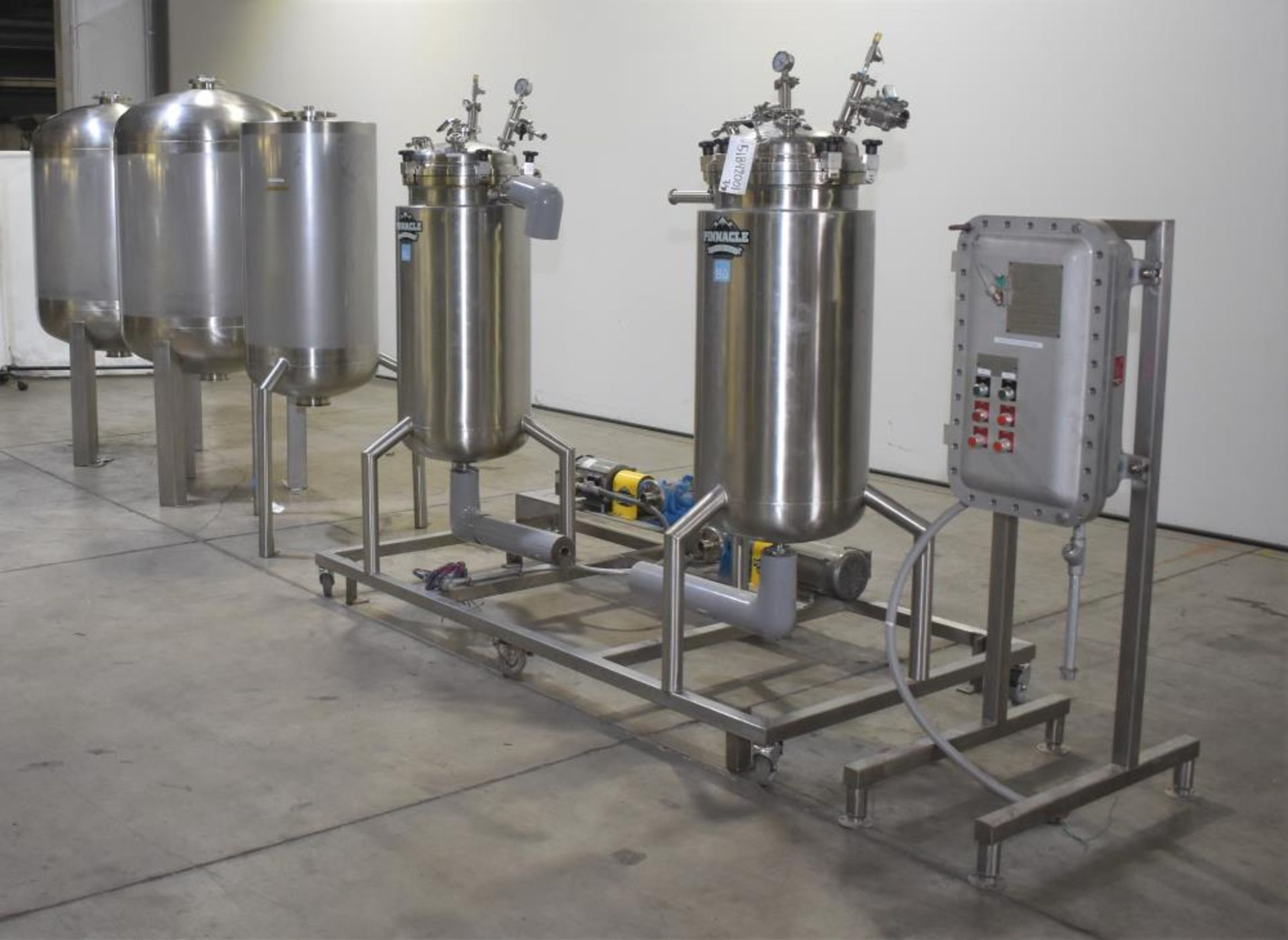 *** NO RESERVE***Used- Pinnacle Stainless Alcohol Extraction Skid. Model AES252. - Image 3 of 29
