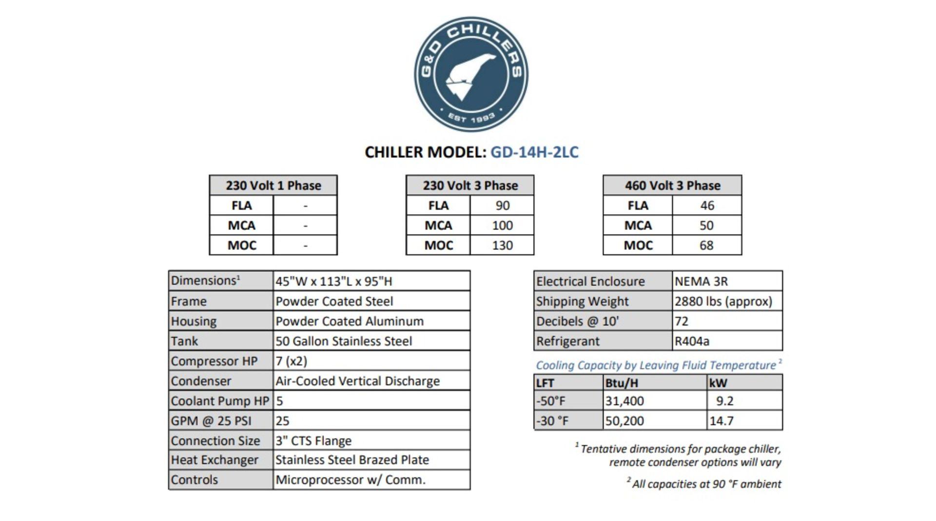 Unused- Pinnacle 40 Degrees C Ethanol System w/ ICS Skid, G&D Model 14-2LC, Huber CC-902 - Image 7 of 7