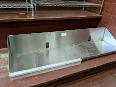 6ft Custom Stainless Steel Wall Shelf