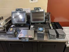 Micros 2 Terminal POS System with Printers and Scale