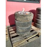Set of 4 Avalanche Tires and Rims - 195/80R14