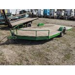 Approx. 15 ft Flat Deck Trailer - Note no paperwork