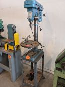 Drill Press on Stand with Drill Bits