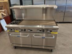 """Cookrite 60"""" Range with 48"""" Griddle, 2 Burners and 2 Ovens - Unused"""