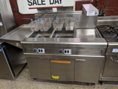 Frymaster 2 Compartment Fryer with Fry Warming Station and Oil Recovery System