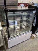 """Orion 38"""" Pastry Display Cooler - Note One Door has Crack"""