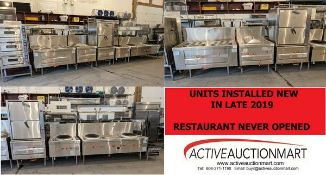 Snapshot of items installed new in 2019 and the restaurant never opened