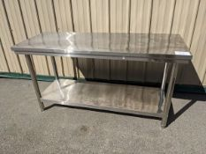 """Approx. 24 x 60"""" Stainless Steel Work Table"""