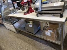 """72"""" Custom Franesse Cutting Table with Back Splash and Drawer"""